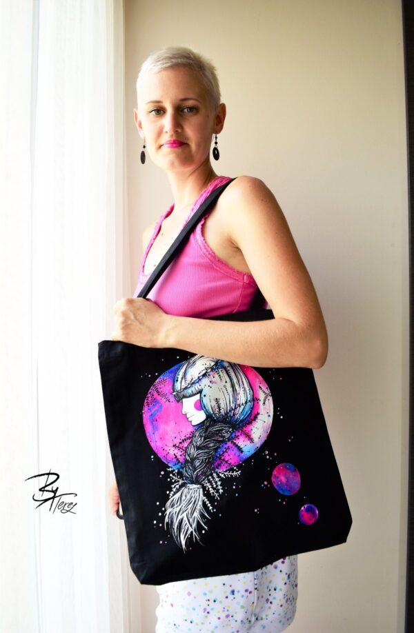 designová taška z bio bavlny