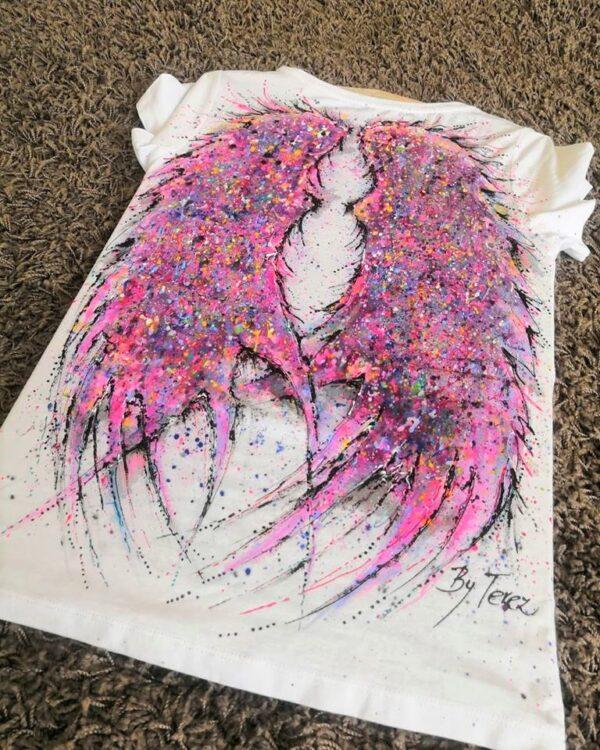 originální malba na textil