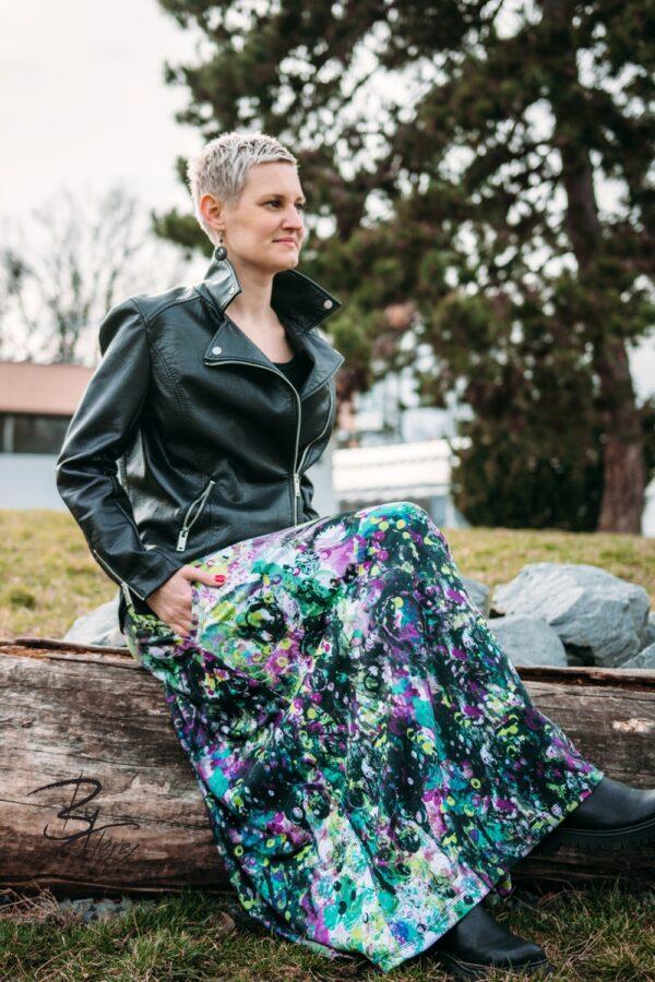 Dlouhá designová sukně