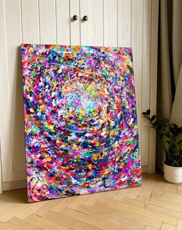Originální obraz plný barev - abstrakce